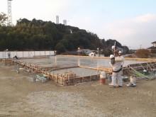 クリニックコンクリート打設完了